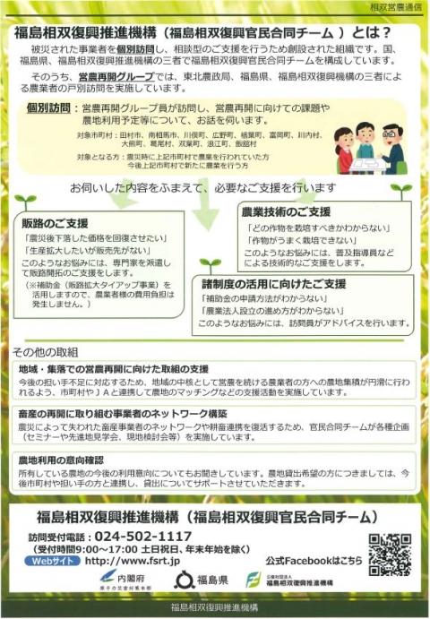 相双営農通信(裏)